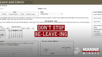 Marine Minute: Don't Stop Be-leave-ing