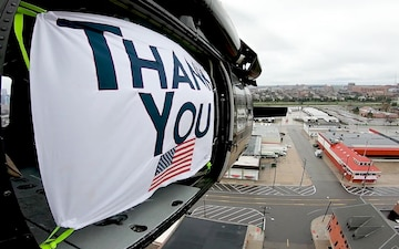 """U.S. Customs and Border Protection """"Thank You"""" message to health care workers."""
