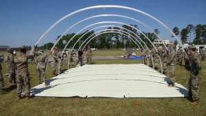 South Carolina National Guard trains with SCDHEC on deployable medical shelters