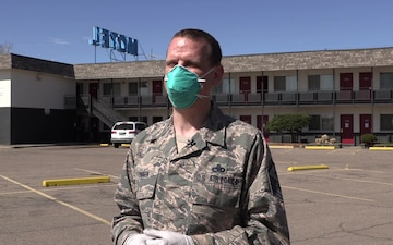 The Colorado National Guard In-Processing for COVID-19 Response