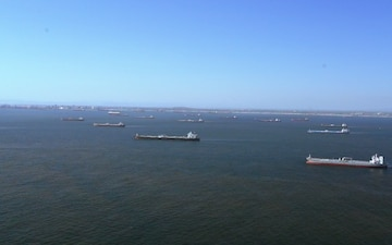 Oil Tankers at anchor in Southern California
