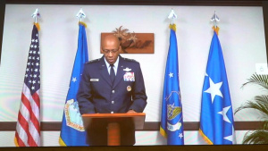 Lt. Gen. Krumm takes command of NORAD, ALCOM, and the 11th Air Force