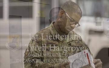 1st. Lieutenant Tyrell Hargrove uses his real-world nursing expertise in his National Guard role.