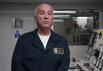Faces of Comfort: Chief Engineer Aboard USNS Comfort Implements Controls to Mitigate COVID-19 Transmission Amongst Crew Members