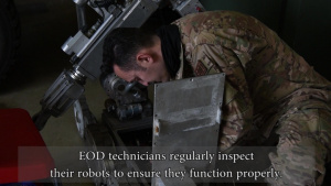 Explosive Ordnance Disposal Robot Maintenance