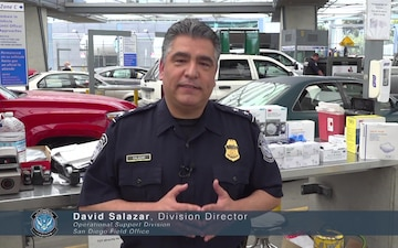 David Salazar, CBP San Diego Field Office, Discusses Use Of PPE