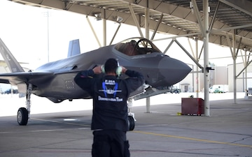 "F-35 Demonstration Team Prepares to Launch for the ""Utah Strong"" Flyover"