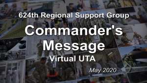 Virtual UTA Commander's Message - May 2020