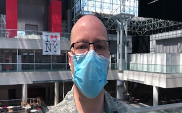Air Force Nurse Leaves Javits Medical Station for New Mission