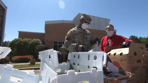 South Carolina National Guard assists food bank in support of COVID-19 response efforts