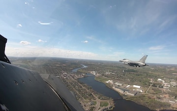 148th Flyover B-Roll from Operation American Resolve