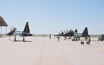 25th Flying Training Squadron In-Air Change of Command