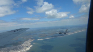 NJ Salutes Aerial F-16 and KC-135 Fly Over South Jersey Shore