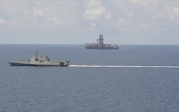 USS Gabrielle Giffords Operates Near Panamanian Drillship West Capella