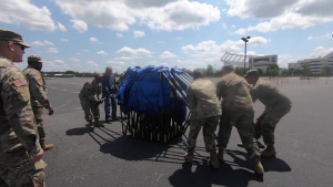 South Carolina National Guard sets up deployable medical shelter