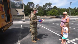 South Carolina National Guard delivers meals, books to children