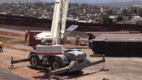 Border barrier construction on San Diego 4