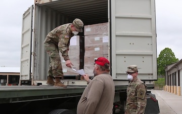 Iowa National Guard Soldiers deliver medical PPE for upcoming primary election B-Roll