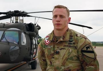 CPT Miller pilot interview Healthcare Heroes Salute Flight