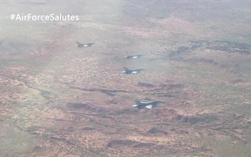 49th Wing Air Force Salutes Flyover