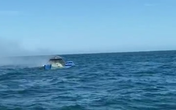Coast Guard rescues 3 boat fire
