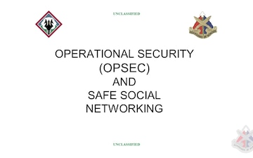 OPSEC and Safe Social Networking