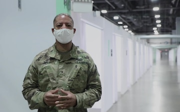 Brig. Gen Visits DC convention center