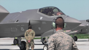 158th Fighter Wing honors COVID-19 responders with F-35A flyover