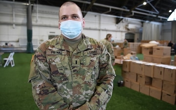 National Guard builds 350,000 testing kits in 2 days.