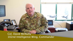 Memorial Day 2020 greeting from 102nd IW Commander Col. David McNulty