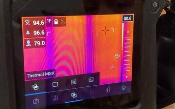 Thermal Imaging Sensor (FLIR T540) Screen Set-up