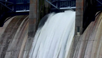 B-Roll Table Rock Dam Spillway Release May 30, 2020