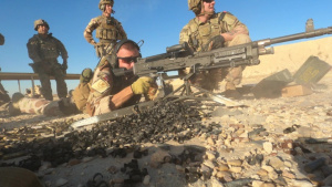 U.S. and Norwegian Coalition M204B Live fire Broll