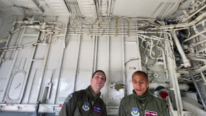 100th ARW prepares KC-135 Stratotanker for flight