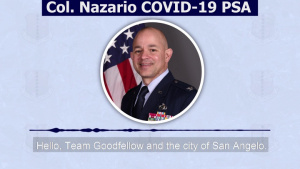 COVID-19 Response PSA from Col. Nazario, 17th Training Wing commander