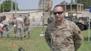 U.S. Airmen with the 53rd Air Traffic Control Squadron conduct innovative training exercise