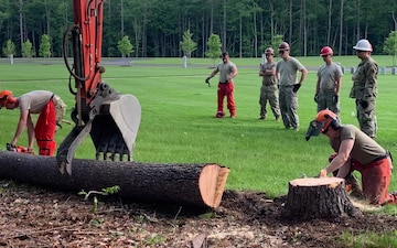 157th Civil Engineers train and support State Veterans Cemetery
