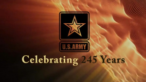U.S. Army 245th Birthday Logo Animation