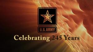 U.S. Army 245th Birthday Logo Animation