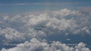 KC-46 Refuels Charleston C-17s