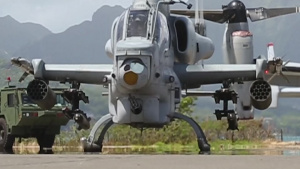 U.S. Marine and Navy helicopters exercise maritime strike capability