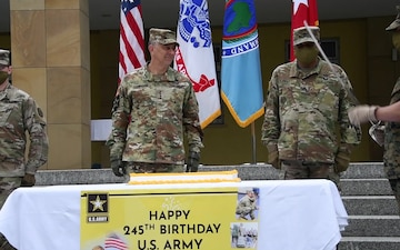 AFRICOM commander recognizes the U.S. Army's 245th birthday