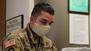 Oklahoma National Guard Soldier Gathers COVID-19 Test Samples From Local Health Departments