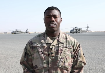 Spc. Christopher Townsel, Independence Day Shout out