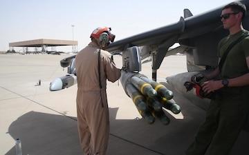 VMA-214 at Prince Sultan Air Base