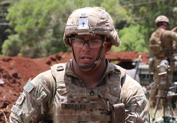 Staff Sgt. Jeffrey Morales, M777 Howitzer Section Chief (w/logo)