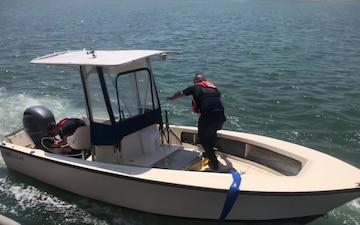 Coast Guard, good Samaritan rescue 4 from vessel taking on water near Cape May, New Jersey