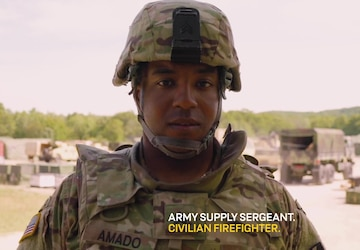 Army Reserve Life:  Firefighter & 92Y Supply Sergeant ( :30 sec)