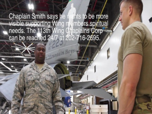 113th Wing gets new 'more visible' chaplain