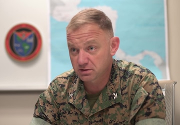 U.S. Marine task force holds opening ceremony for crisis response deployment (Interview – Dawson)